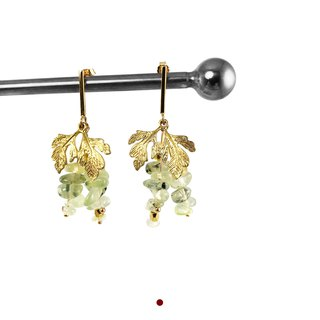 Exquisite -925 Silver Gold Plate Earrings 【Harvest Grapes】I