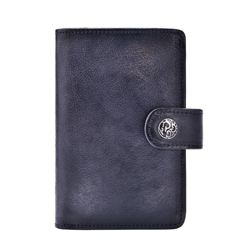 Valentines Day Gift Leather wallet for Women with Clip Black