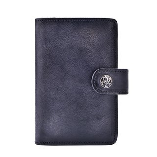 [Limited Time Discount] handmade leather short clip simple button wallet (change bag + photo grid + card folder + note folder)