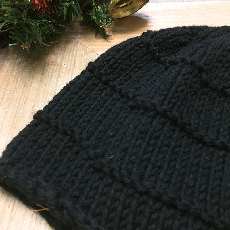 Handmade hair cap _ simple black