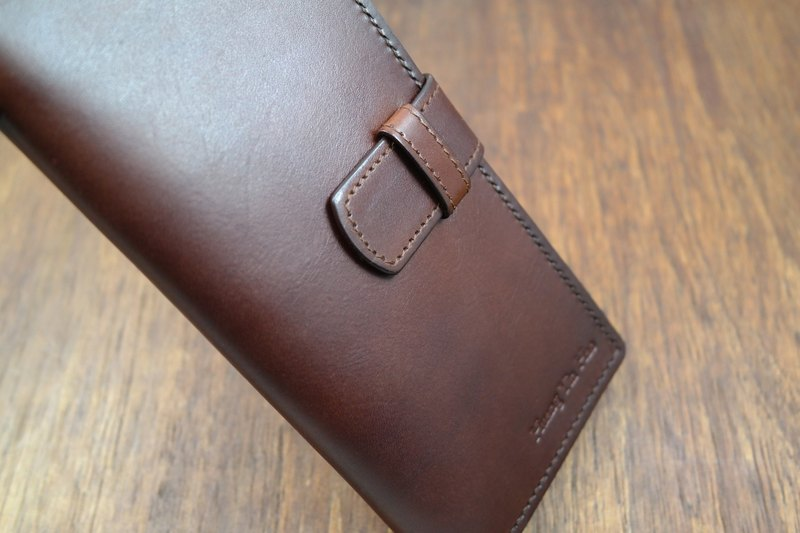 APEE leather hand ~ wear long clip ~ plain black brown