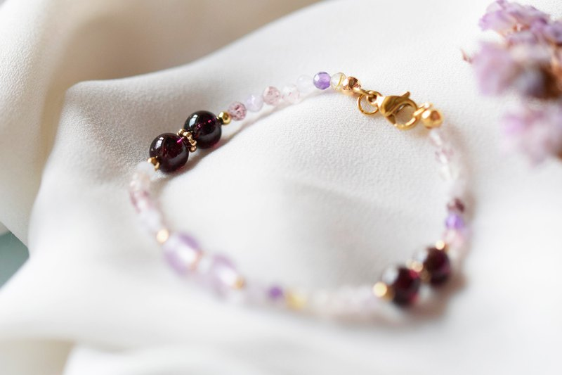 Lucky You。Super Seven/ Amethyst/ Garnet Natural Stone Bracelet