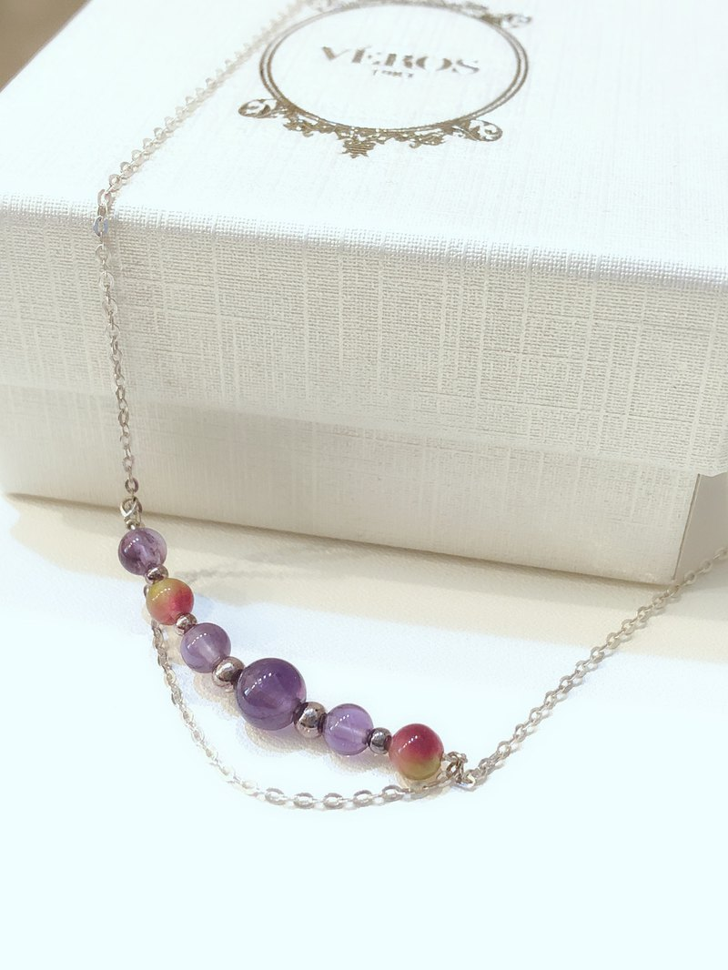 Happy Life Amethyst 925 Sterling Silver Necklace