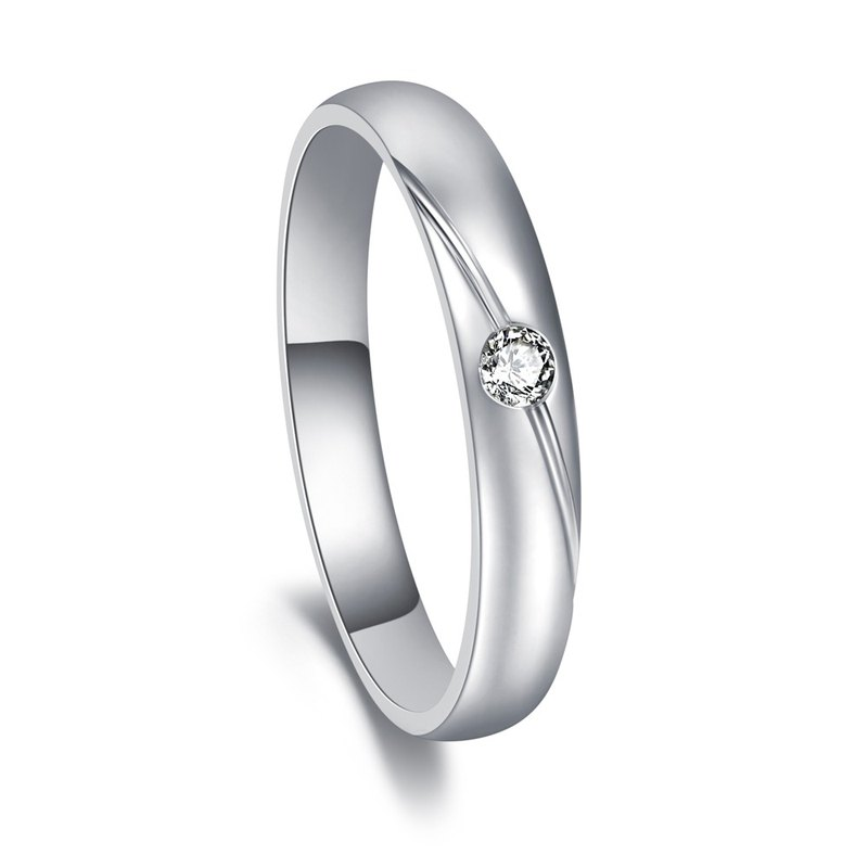 Diamond with 316L Surgical Steel Ring Casting Jewelry for Female