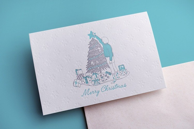 Original Christmas Card / Folding Greeting Card / Hand Drawn Creative Greeting Card / Illustration Christmas Card