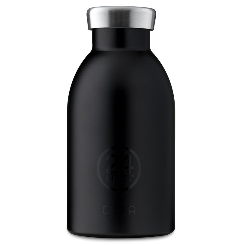 Italy 24Bottles [CLIMA hot and cold insulation series] gentleman black - stainless steel bottle 330ml