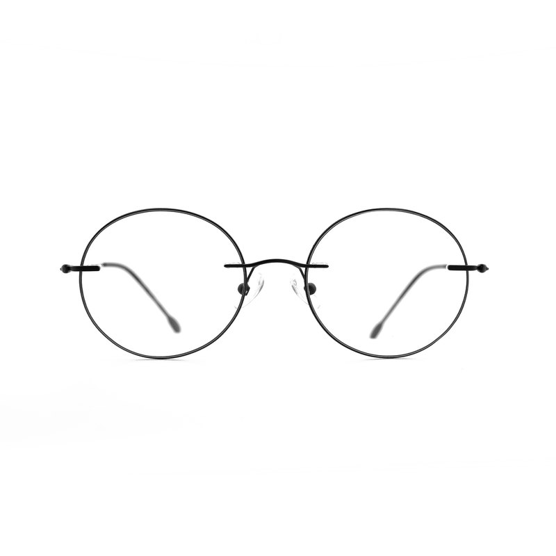 Minimalist Round Frameless Glasses - Fog Black