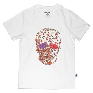 British Fashion Brand [Baker Street] Blossom Skull Printed T-shirt for Kids
