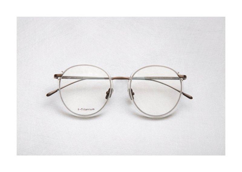 日本鈦金屬復古鏡框 透色古銅