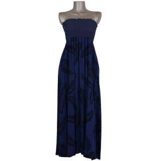 Banana Reef Tube Top Long Dress <Navy>