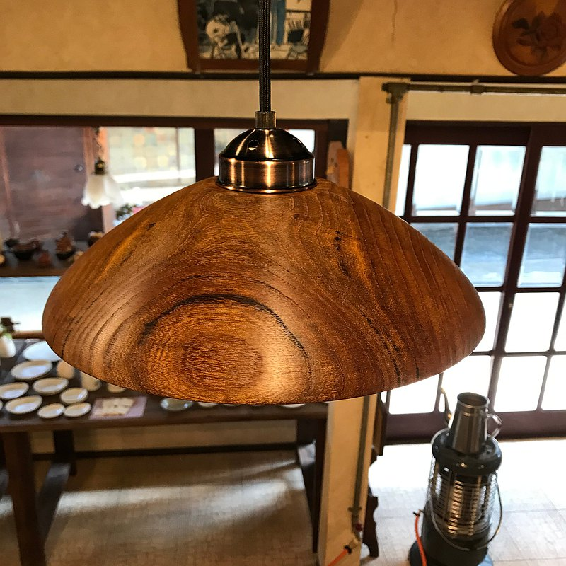 Pendant light made from Mulberry old wood