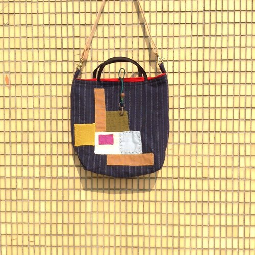 [Antique Lover] tote bag collection (L) Gubo Patchwork Hand / Shoulder Bag