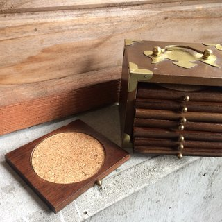 Wooden metal chest coasters