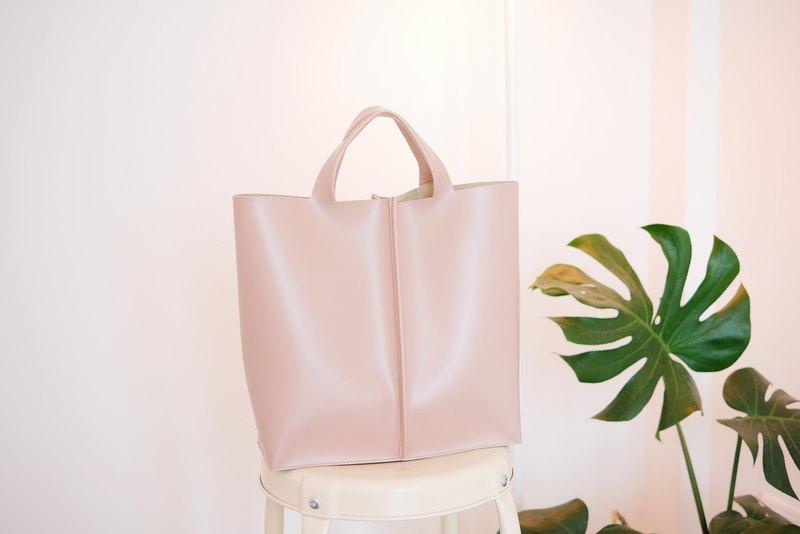 WHITEOAKFACTORY簽名手提包II  - 淺粉色