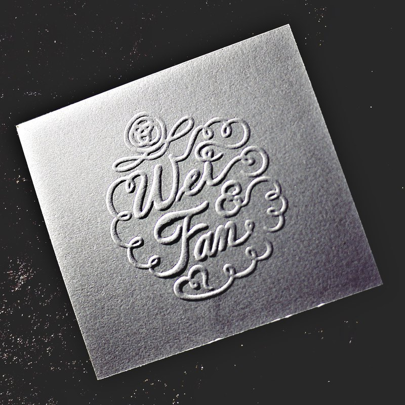 (Fortunately) pocket type stamp B-customized relief / convex / embossed / anti-counterfeit wedding invitation stickers business card certificate