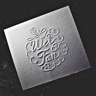 Pocket type stamp B-customized relief / convex / embossed / anti-counterfeit wedding invitation stickers business card certificate