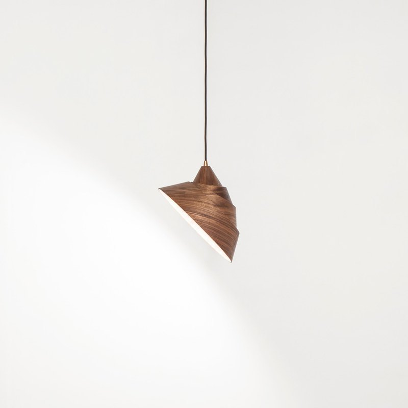 Smile handmade wooden chandelier ∣ walnut