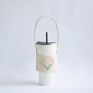 MaryWil Eco Cup Set Beverage Bag Lightweight - Colored Antlers