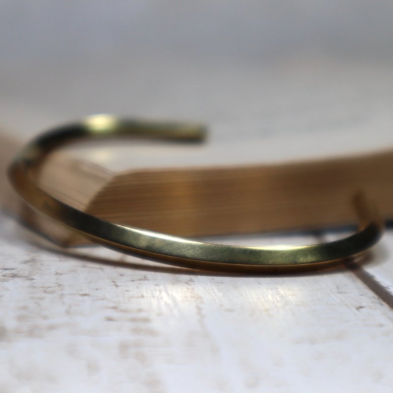 Simple diamond brass bracelet brass