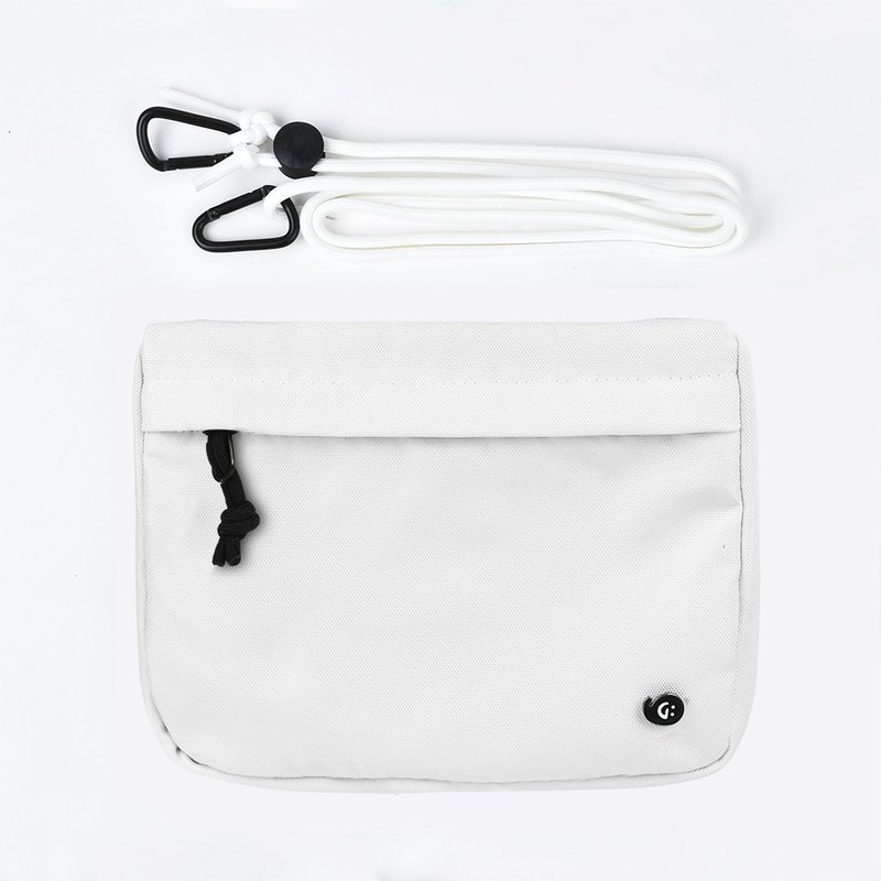 Grinstant Mashup Detachable Pouch Shoulder Bag - Black and White Series (White)
