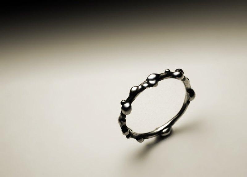 單銀線銀粒戒指