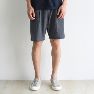 Melange Grey Linen Shorts