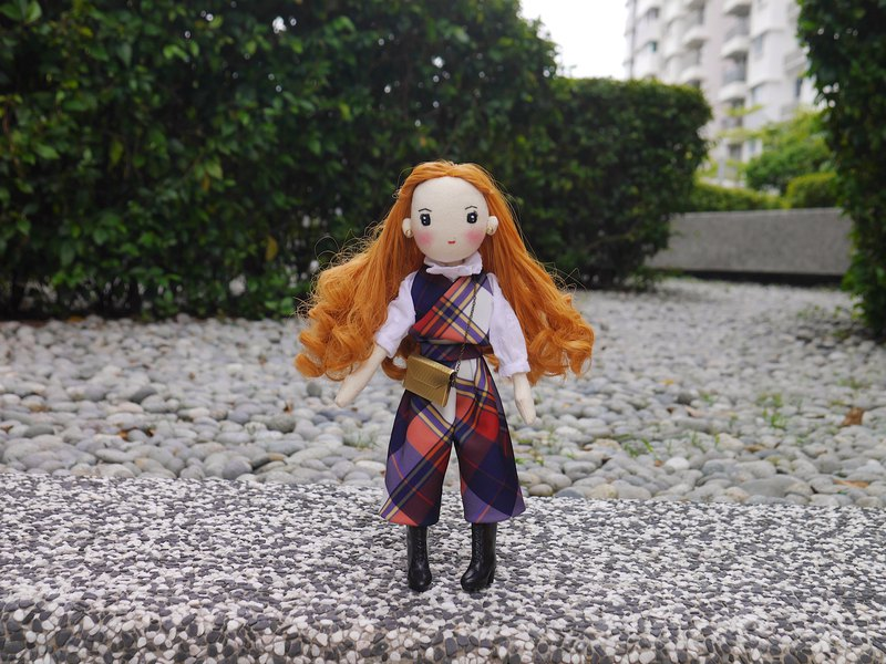 Handmade Doll- Fashionable Girl with Long Curl Hair
