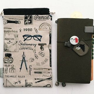Hairmo stationery illustration handbook storage bag (TN/hobo/Notepad/log)