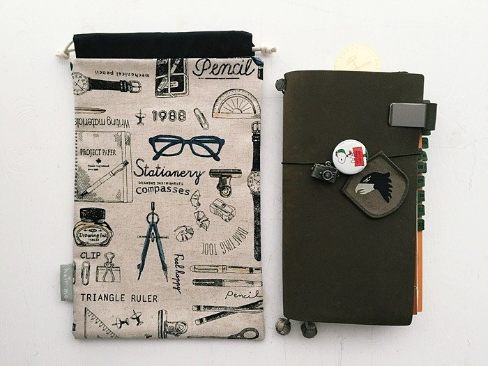 Hairmo stationery handbook receipt bag (TN / hobo / notepad / log)
