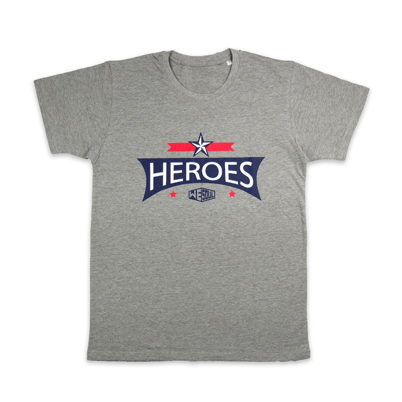 HEROES Collection Design Cotton T :: Gray :: 18050103-28