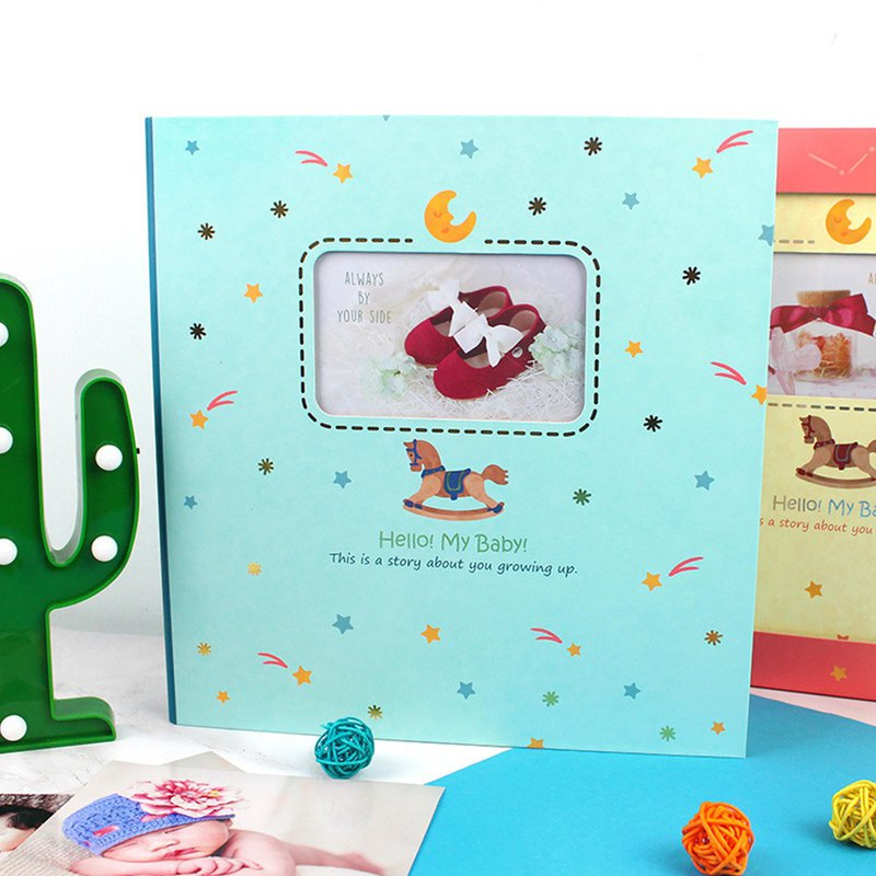 6K3 hole small Trojan baby / newborn growth album gift box - self-adhesive / 15 sheets