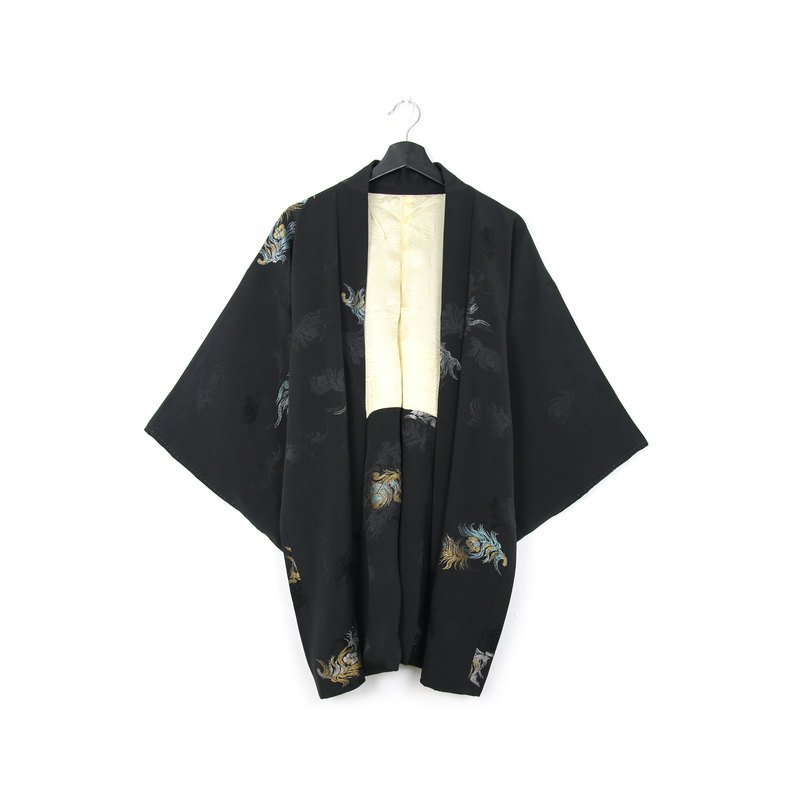 \Guests do not order / / Japan brought back feather weaving peacock feather / vintage kimono