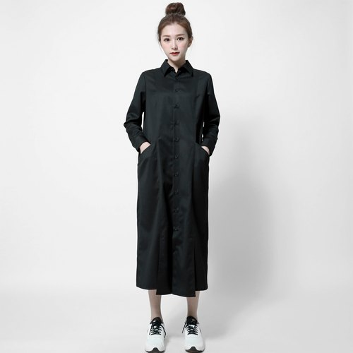 SU: MI said Existentialism Preserving shirt dress _7SF007_ black
