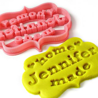 Custom Homemade Cookie Cutter, Personalized with Your Name or Bakery Brand