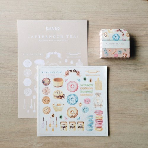 Enjoy afternoon tea paper tape the card offers group / sweets / biscuits