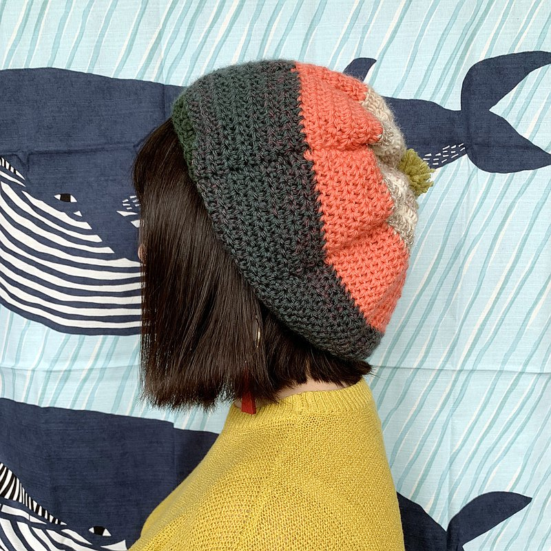 【Pure hand knitted wool hat | 022 Oasis】