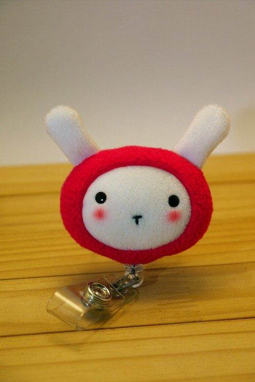 Bucute red rabbit - retractable clip clip / caregiver private / birthday gift Preferred / Exclusive / handmade /