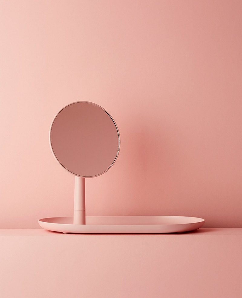 STAND MIRROR TRAY / PINK
