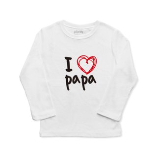 Long-sleeved boy T Tshirt I love papa