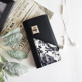 Monotone Rose  iPhone case  Handbook type smart case