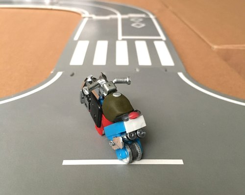Mini heavy machine / lighter parts transformation / motorcycle / mini track / birthday gift / small heavy machine-0034