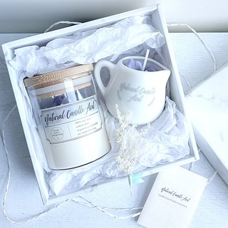 Crystal rough 2 gift box | natural essential oil fragrance soy candle lavender | birthday gift
