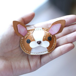 澎澎 压 压 压 恳 恳 Chihuahua Handmade Leather Pins