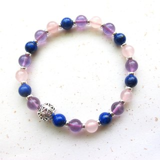 [Indulge] Amethyst x Amethyst x lapis lazuli x 925 silver - hand-made natural stone series