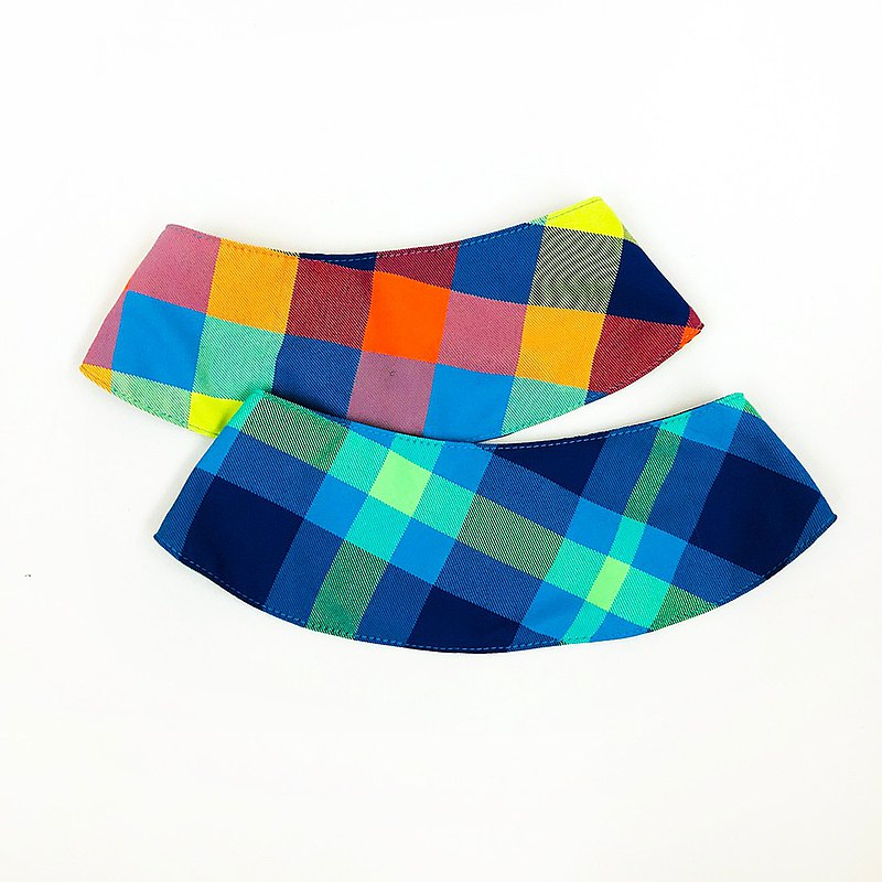Plaid dog decorative scarf/small cloak two colors