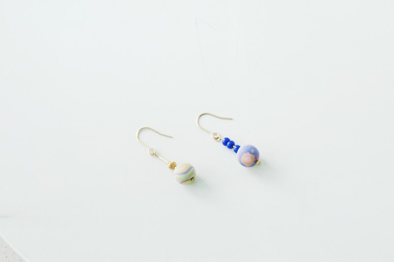 17 Autunm-Colorful Stone Earring- Childhood