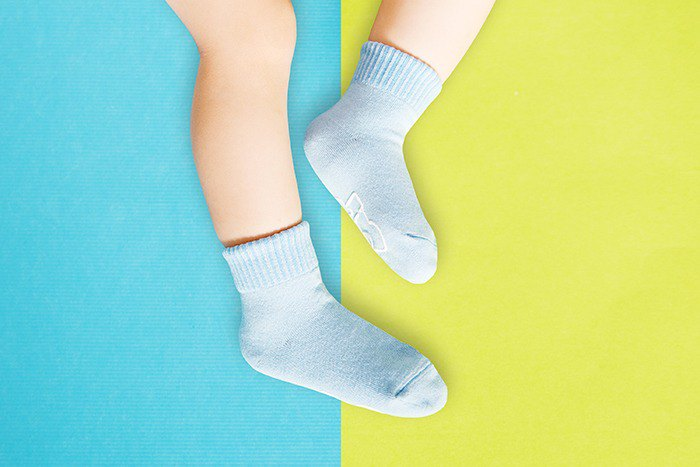 Macarons Antiskid 1/2 Child Socks (Ocean Blue)