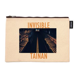 Invisible Tainan artist series synthetic canvas zipper bag