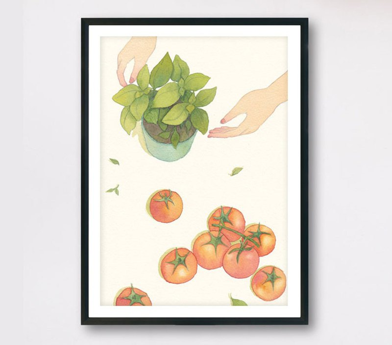 <Simple> - Slow living collection/ Art print (with cardboard frame) Wall decor