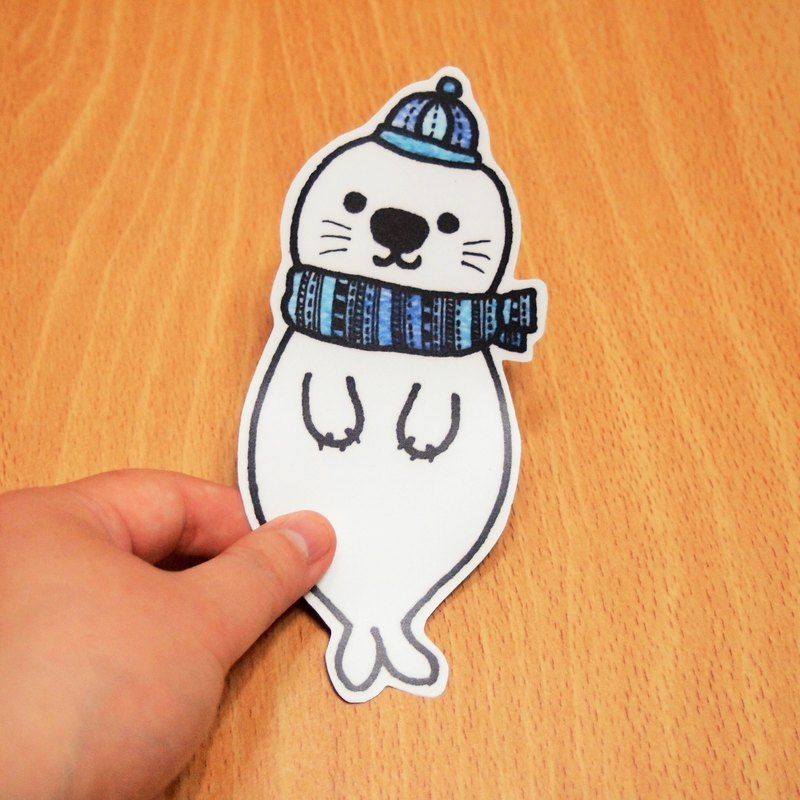 Waterproof stickers - seals (blue)